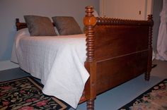 converting an antique bed frame to queen or king size we have to do this soon crafts. Black Bedroom Furniture Sets. Home Design Ideas