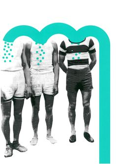 Siebdruck - GEDANKENFLUSS Siebdruck Collage A3 Freunde Männer - ein Designerstück von Morkebla bei DaWanda
