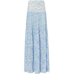 Intermix Women's Cantrell Maxi Skirt (105 AUD) ❤ liked on Polyvore featuring skirts, floor length skirts, slit maxi skirt, blue skirt, patterned maxi skirt and pleated skirt