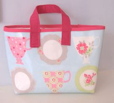 Oil cloth bag by dollywhatnot on Etsy, £7.95