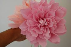 Pink Dahlia sampler for Katie | Paper Flowers Tutorials by Maria Noble