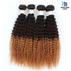 116.42$  Buy now - https://alitems.com/g/1e8d114494b01f4c715516525dc3e8/?i=5&ulp=https%3A%2F%2Fwww.aliexpress.com%2Fitem%2F4-Bundle-Tissage-Peruvian-Kinky-Curly-Virgin-Hair-Afro-Kinky-Curly-Hair-T1b-4-30-Brown%2F32552714230.html - 4 Bundle Tissage Peruvian Kinky Curly Virgin Hair Afro Kinky Curly Hair T 1b 4 27 Brown Black Human Hair Ombre Hair Extensions 116.42$