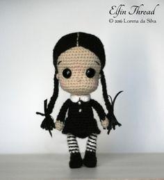 Wednesday Addams Chibi Doll Amigurumi Pattern