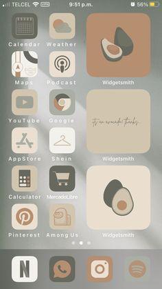 Iphone Wallpaper Ios, Walpaper Iphone, Aesthetic Iphone Wallpaper, Iphone Home Screen Layout, Iphone App Layout, Icones Do Iphone, Ios App Icon, Iphone Design, Iphone Icon