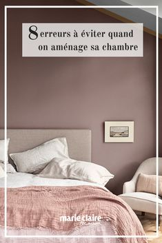 Mistakes to avoid for the decoration of the room / room trend / tendance deco chambre / bedroom cocooning / design room / bed linen / spirit cocooning room / powdery pink Cozy Bedroom, Bedroom Decor, Wall Decor Bedroom, Bedroom Colors, Bedroom Interior, Interior, Bedroom Inspirations, Home Decor, Room