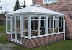 Project Conservatories is the best place to buy an easy-to-install DIY conservatory. Our high quality range of self build conservatories are priced from Edwardian Conservatory, Conservatory Dining Room, Conservatory Roof, Sunroom Kits, Small Sunroom, Veranda Design, Wooden Gazebo, Front Porch Design, Winter Garden