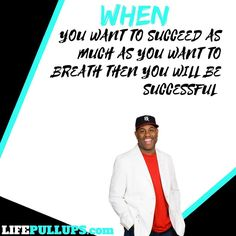When you want to succeed as bad as you want to breath then you will be successful. @etthehiphoppreacher Check out this great video and post to get you motivated!! #linkinbio