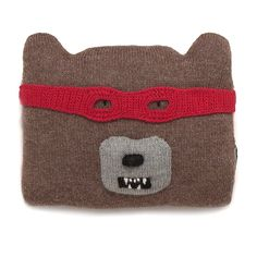 Oeuf NYC bear-cushion with removable mask