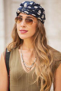 Accessories & more - summer hot / Bandana & Sunnies  - monstylepin #fashion #accessories #summer #style #bandana #headband #sunglasses #necklace