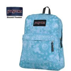 JanSport Bayside Blue Banadana Prints Backpack - Jansport backpack-Campaign Categories - TopBuy.com.au