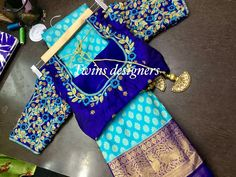 Lehenga Designs Simple, Wedding Saree Blouse Designs, Pattu Saree Blouse Designs, Fancy Blouse Designs, Wedding Blouses, Wedding Saree Collection, Maggam Work Designs, Stylish Blouse Design, Designer Blouse Patterns