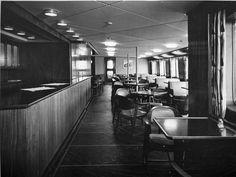 VBMFE645.tif | Kafeteria, M/S Finnmarken | Arkivverkets digitale fotoarkiv Furniture, Home Decor, Decoration Home, Room Decor, Home Furnishings, Arredamento, Interior Decorating