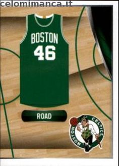 2014-15 NBA Sticker Collection: Fronte Figurina n. 6 Celtics Road Jersey