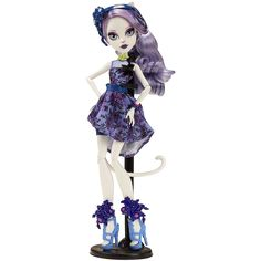 La #MonsterHigh #CatrineDeMew #FiestaInmortal tiene orejas y cola de gatito. ¡Nos encanta!