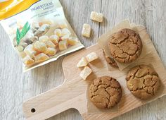 Homemade Ginger Biscuits, using Light Muscovado Sugar and Crystallised Ginger Pieces   EatExploreEtc.com