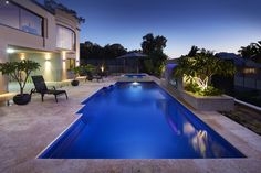 A 10.5m Venetian Pool with a 2.6m Monaco Spa Pool colour is an Ocean Shimmer. All our pools have a child safety ledge