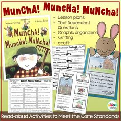 """Dive deep into this book with a week of meaningful activities that cover Core Standards. """"Muncha! Muncha! Muncha!"""""""