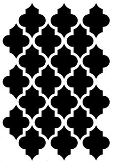 Stencil Printing, Damask Stencil, Stencil Templates, Stencil Patterns, Stencil Diy, Stencil Designs, Pattern Art, Cnc Cutting Design, Moroccan Stencil