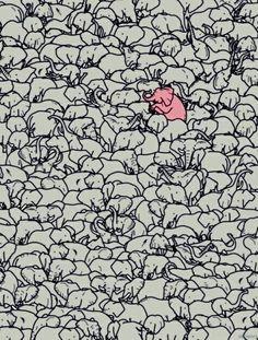 """""""J ai cru voir un éléphant rose"""""""