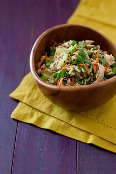 bok choy brown rice salad with orange sesame dressing by annieseats, via Flickr