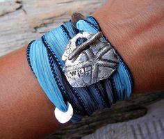 Silver Wrap Bracelet Sterling Silver Wrap Bracelet by HappyGoLicky, $49.50 ILOVETHIS