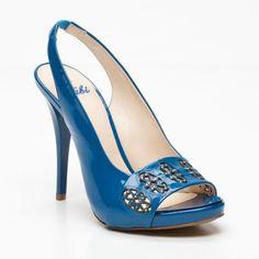 blue cutout heels ♥