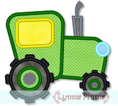 Embroidery Designs - Tractor Applique 4x4 5x7 6x10 - Welcome to Lynnie Pinnie.com! Instant download and free applique machine embroidery designs in PES, HUS, JEF, DST, EXP, VIP, XXX AND ART formats.