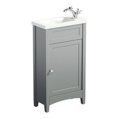 The Bath Co. Camberley grey cloakroom vanity with resin basin