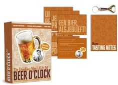 BEER OCLOCK GIFT SET  There's nothing quite like a refreshing beer and our Beer O'Clock Gift Set is dedicated to the Nectar of the Gods!  Delve into your knowledge of the malted brown stuff with our testing quiz.  Never be caught out without a bottle-opener in hand again.  Plus there's a spiffing notebook to keep a record of your favorite ales, lagers and stouts!