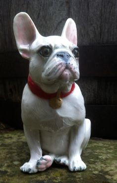 French Bulldog collectable figurine porcelain by LivingCeramics