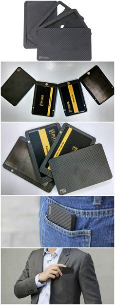 The Pitaka Carbon Fiber Wallet is a modular wallet that you can take apart and customize according to your needs by selecting just the parts that you need.