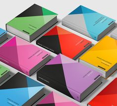 "Norway-based studio Tank Design created this colorful geometric identity system for Cappelen Damm Dictionaries. ""Tank was given the task to develop an iconic brand for Cappelen Damm dictionary series. The solution includes cover design for three series, developed for different target groups. Each language is given a significant colour, which appears on the book cover. The design of the book matter is consistent for all series and languages. Tank chose the font Sirba (Type Together) after ..."