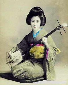 Geisha - shamisen