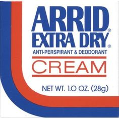 Arrid Extra Dry Anti-perspirant & Deodorant Cream 1 Oz (Pack of 6)