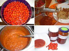 """Šípkové recepty. • Neposílejte muže """"k šípku"""". • Jak sušit šípky. • Šípkový čaj: vitaminy nebo báječná chuť? • Šípkový kompot a přesnídávka. • Jak se dělá šípková marmeláda: nejjednodušší recept na výrobu domácí šípkové marmelády. • Marmalade, Chana Masala, Homemade, Fruit, Vegetables, Health, Ethnic Recipes, Trees, Gardens"""