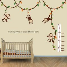 Monkey Growth Chart Wall Decal, Height Chart for Wall in Green and Orange Nursery Decals and More http://www.amazon.com/dp/B00IKU4HCE/ref=cm_sw_r_pi_dp_B9nStb05674V6RZ5