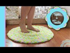 Como hacer una alfombra para baño con toallas - YouTube