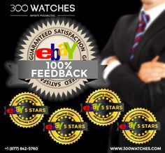 100% Feedback on eBay! 300watches, a #luxurywatch reseller that you can count on. Discount Watches, High End Brands, Watch News, Luxury Watches, Gossip, Watches For Men, The 100, Vintage, Ebay