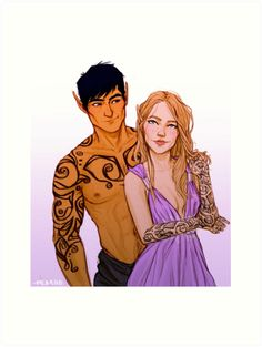Feyre and Rhysand Tattoos by meabhd