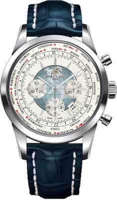Breitling Watch Transocean Chronograph Unitime Polar White Watch available to buy online from with free UK delivery. Elegant Watches, Stylish Watches, Luxury Watches For Men, Cool Watches, Men's Watches, Dress Watches, Breitling Navitimer, Breitling Watches, Breitling Chronograph