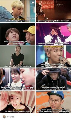 """""""Best leader ever"""" is an understatement when it comes to Joonie. Bangtan would never be without his guidance and support and so much more. We need to appreciate Namjoon so much more. He's such an angel"""