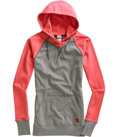 I usually wear black or grey colors, but this great lightweight hoodie is a must for those days when winter is transitioning into spring! The salmon color brings the happiness back from a long New England winter...