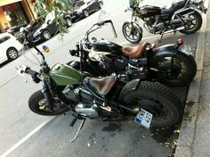 Two for the price of one. Vulcan 800 classic bobbers