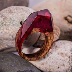 Кольца ручной работы. Ярмарка Мастеров - ручная работа. Купить Кольцо «Кардинал» из дерева. Handmade. Кольцо, Украшение ручной работы