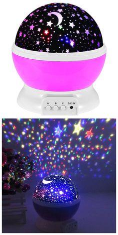 Colorful Babysbreath Sky Autorotation LED Night Light