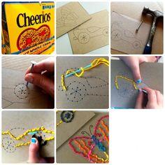 Desarrollo de la actividad de costura para niños. http://jugarconlacreatividad.blogspot.com.es/2014/09/costura-para-ninos.html #costuraparaniños #costuradivertida #sewingforkids #jugarconlacreatividad http://fb.me/6NZOeZ6zv