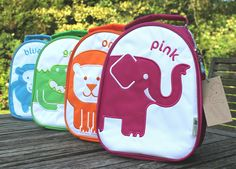 colourful animal lunch bags from colourful dove