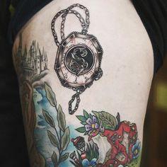 slytherin locket Harry Potter tattoo Alice carrier