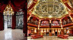 L'entrée su la rue a conservé les lourdes grilles de l'ancienne banque avant d'entrer dans Grand hall surmonté de sa coupole (Copyright hotelbanke.com)
