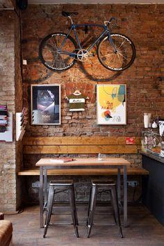 Indoor bike rack #cyclingandcoffee
